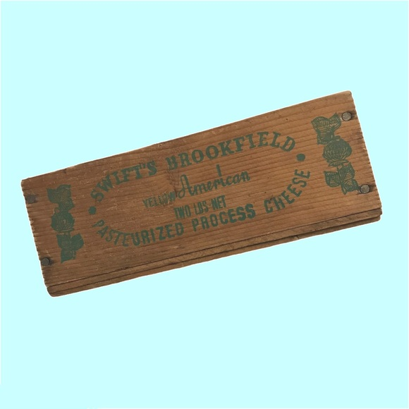 Vintage Cheese Box Wooden Decor Antique Swifts